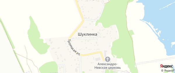 Покровская улица на карте деревни Шуклинки Курской области с номерами домов