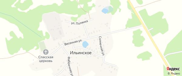 Весенняя улица на карте деревни Ильинского с номерами домов
