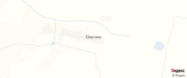 Карта деревни Ольгино в Орловской области с улицами и номерами домов