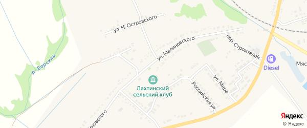 Квартал Лахтинка на карте поселка Томаровка с номерами домов