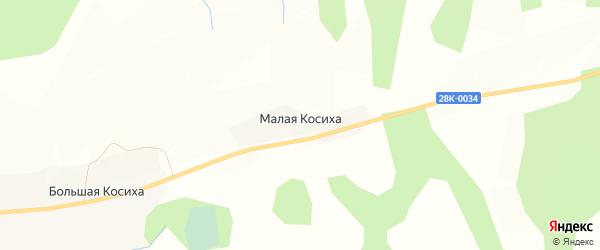 Карта деревни Малой Косихи в Тверской области с улицами и номерами домов