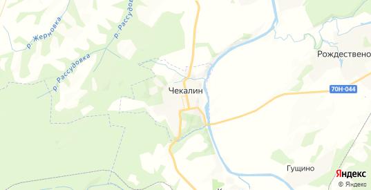 Карта Чекалина с улицами и домами подробная. Показать со спутника номера домов онлайн