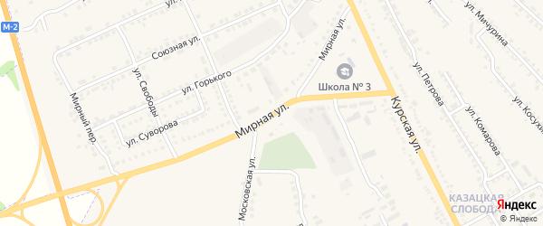 Мирная улица на карте Обояни с номерами домов