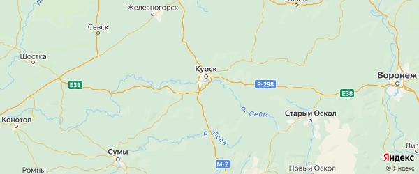 Карта Курского района Курской области с городами и населенными пунктами