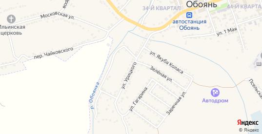Улица Урицкого в Обояни с номерами домов на карте. Спутник и схема онлайн