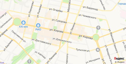 Карта поселка Мостопоезд в Калуге с улицами, домами и почтовыми отделениями со спутника онлайн