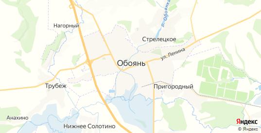 Карта Обояни с улицами и домами подробная. Показать со спутника номера домов онлайн