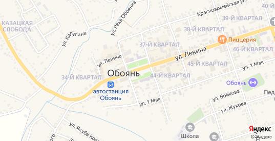 Улица Чайковского в Обояни с номерами домов на карте. Спутник и схема онлайн