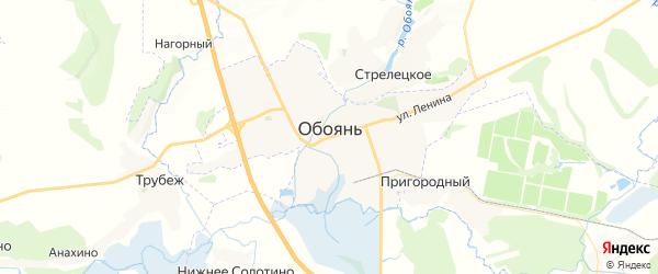 Карта Обояни с районами, улицами и номерами домов