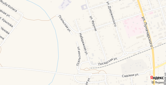 Набережная улица в Обояни с номерами домов на карте. Спутник и схема онлайн