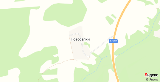Карта деревни Новоселки в Калуге с улицами, домами и почтовыми отделениями со спутника онлайн