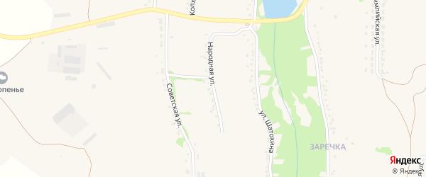 Народная улица на карте села Верхопенья с номерами домов