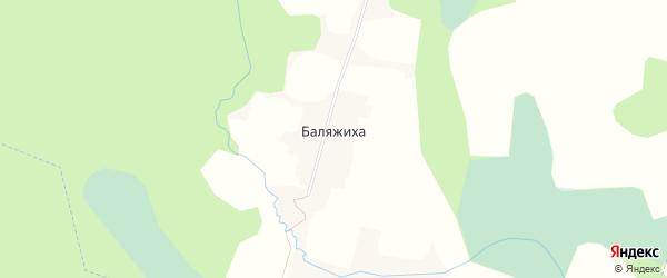 Карта деревни Баляжихи в Тверской области с улицами и номерами домов