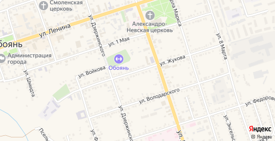 Улица Жукова в Обояни с номерами домов на карте. Спутник и схема онлайн