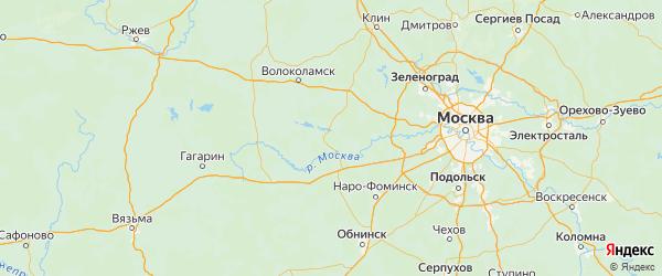 Карта Рузского района Московской области с городами и населенными пунктами