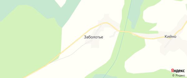 Карта деревни Заболотья в Вологодской области с улицами и номерами домов