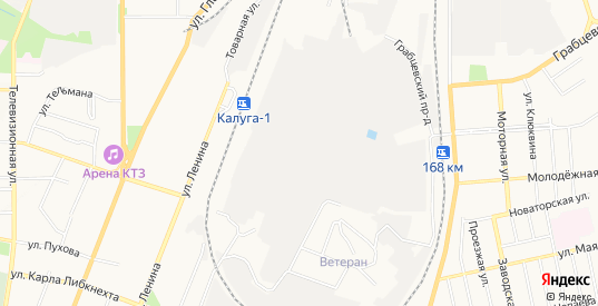 Карта территории Сдт Спутник в Калуге с улицами, домами и почтовыми отделениями со спутника онлайн