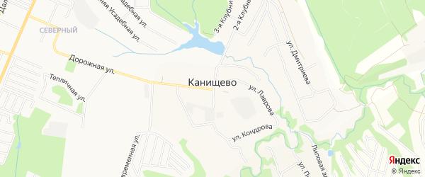 Карта деревни Канищево города Калуги в Калужской области с улицами и номерами домов