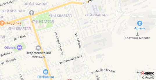 Улица 8 Марта в Обояни с номерами домов на карте. Спутник и схема онлайн