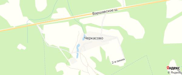 СНТ Клен на карте деревни Черкасово Калужской области с номерами домов