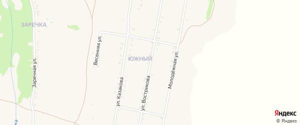 Улица Вострикова на карте села Верхопенья с номерами домов