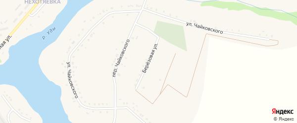Березовая улица на карте села Бессоновки Белгородской области с номерами домов