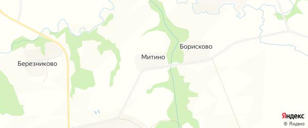 Карта деревни Митино в Московской области с улицами и номерами домов