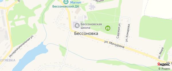 Улица 8 Марта на карте села Бессоновки Белгородской области с номерами домов