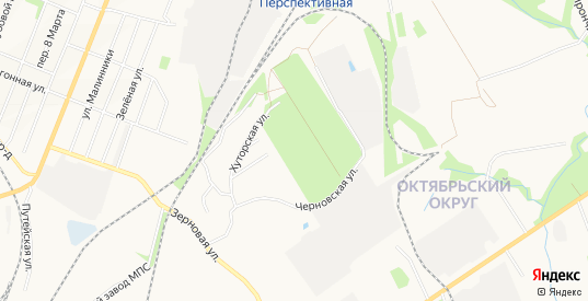Карта деревни Черновский Хутор в Калуге с улицами, домами и почтовыми отделениями со спутника онлайн