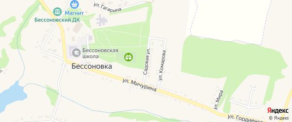 Садовая улица на карте села Бессоновки Белгородской области с номерами домов
