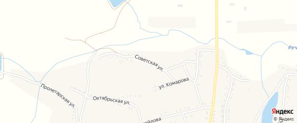 Советская улица на карте села Журавлевки с номерами домов