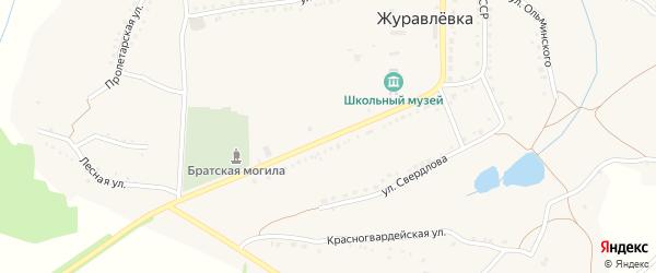 Улица Ленина на карте села Журавлевки с номерами домов