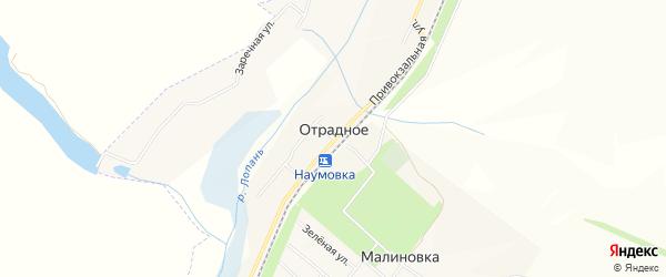 Карта Отрадного села в Белгородской области с улицами и номерами домов