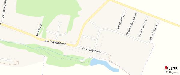 Октябрьская улица на карте села Бессоновки Белгородской области с номерами домов