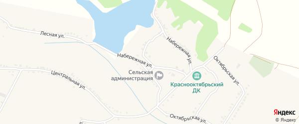 Набережная улица на карте села Красного Октября Белгородской области с номерами домов