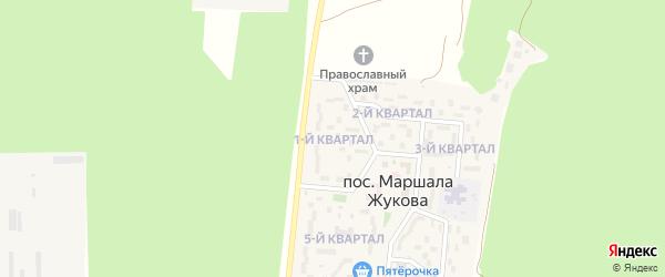 1-й квартал на карте поселка Маршала Жукова Курской области с номерами домов