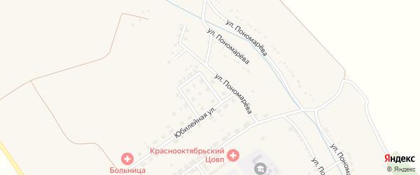 Улица 8 Марта на карте села Красного Октября Белгородской области с номерами домов