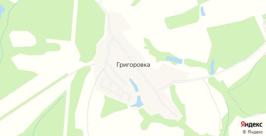 Карта деревни Григоровка в Калуге с улицами, домами и почтовыми отделениями со спутника онлайн