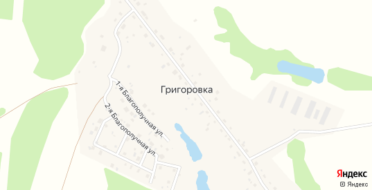 1-я Благополучная улица в деревне Григоровка в Калуге с номерами домов на карте. Спутник и схема онлайн