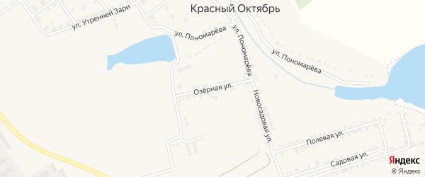 Озерная улица на карте села Красного Октября Белгородской области с номерами домов
