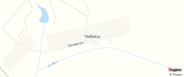 Железнодорожная улица на карте деревни Чибисы Орловской области с номерами домов