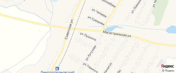 Улица Пушкина на карте Октябрьского поселка с номерами домов