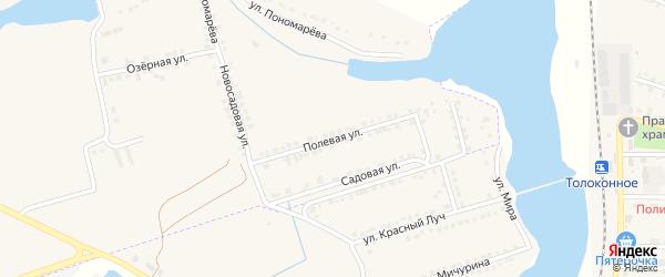 Полевая улица на карте села Красного Октября Белгородской области с номерами домов