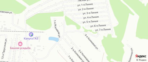 3-я Ясеневая улица на карте Калуги с номерами домов