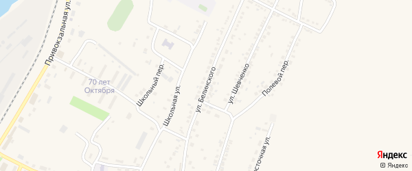 Улица Белинского на карте Октябрьского поселка с номерами домов
