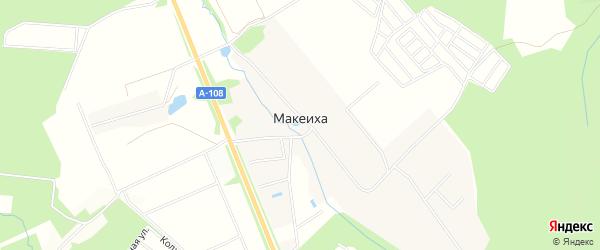 Территория Дачный поселок Дороховы дачи на карте деревни Макеиха с номерами домов