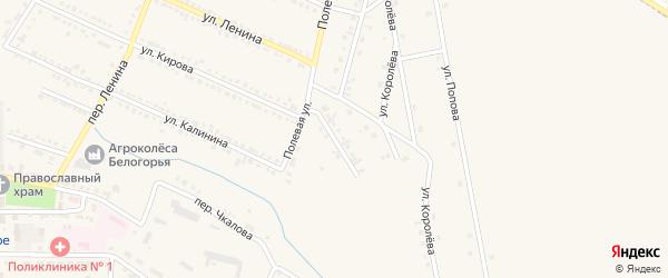 Улица Терешковой на карте Октябрьского поселка с номерами домов