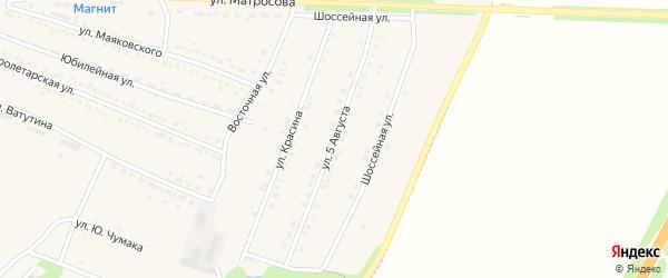 Улица 5 Августа на карте Октябрьского поселка с номерами домов