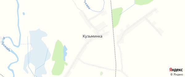 Карта деревни Кузьминки в Курской области с улицами и номерами домов