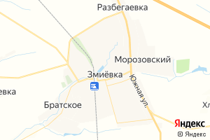 Карта пгт Змиевка Орловская область